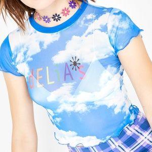 DELIA'S x Dollskill Mesh Clouds Top